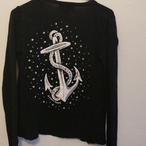 Sweaters - Black pinky star cardiga